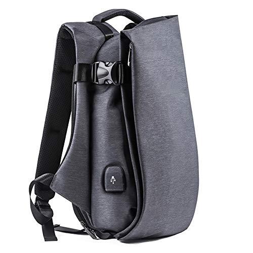 Mochila cómoda y Duradera Impermeable Mochila De Moda para Hombre para Computadora Portátil 15.6'Puerto USB Mochila De