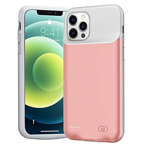 Battery Case for iPhone 12/12 Pro, Enhanced 7000mAh Slim Portable Protective Charging case...