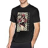 Akeno Himejima - Highschool DxD Wifu Anime T Shirt Men's Crew Neck T-Shirt Leisure Short Sleeve Tops Black