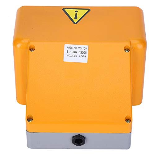 Interruptor de pie doble, suavemente YDT1‑18 Interruptores eléctricos de 380 VCA Interruptor de pedal para máquina eléctrica Kit de clip de fuente de alimentación