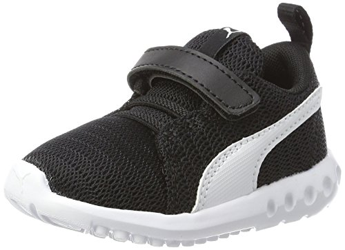 Puma Unisex-Kinder Carson 2 V Inf Sneaker, Black White, 25 EU