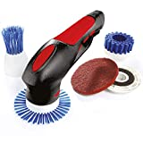 BergmanPro Handheld Power Scrubber - Effortless Cleaning, 7-in-1 Powerful Rechargeable Scrubbing Brush, Cordless