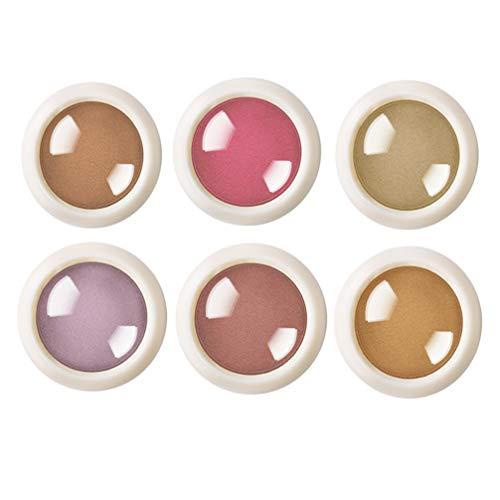Lurrose Chrome Nail Poudre Nail Art Poudre Miroir Holographique Laser Néon Perle Pigment Manucure Glitter Poussière 6 Pcs