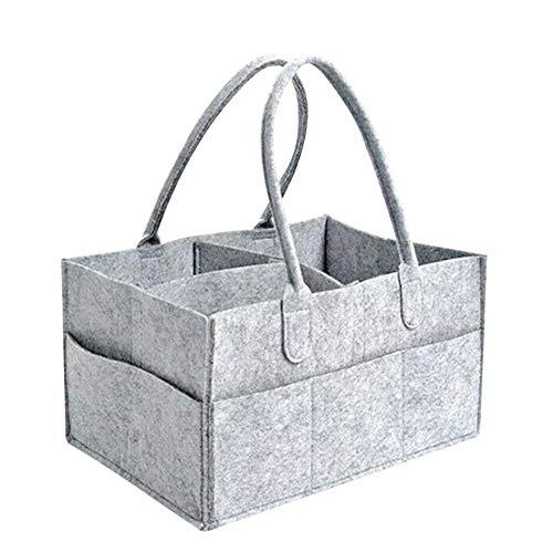 Loriver Grauer Filz Baby Windel Caddy Nursery Storage Wipes Bag Windel Organizer Container