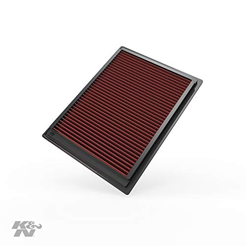 K&N Engine Air Filter: High Performance, Premium, Washable, Replacement Filter: 2004-2008 Ford/Lincoln Truck and SUV V8 (F150, F250, F350, Expedition, Mark LT, Navigator), 33-2287