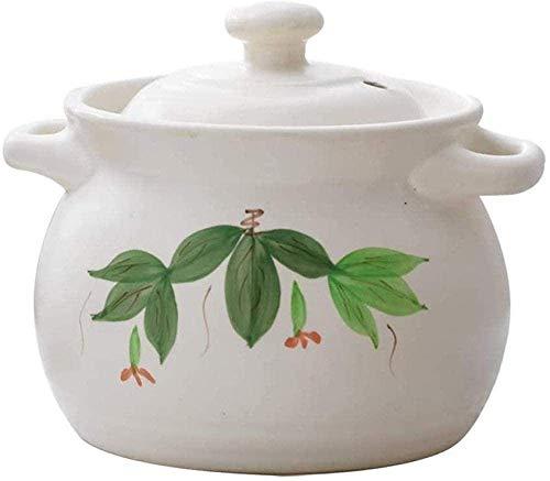 Platos con Tapas de Cocina de cerámica de cerámica: Horno holandés con Mango Grande y Tapa de Utensilios de Cocina. TINGG