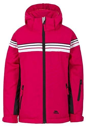 Trespass Priorwood, Raspberry, 2/3, Warme Gepolsterte Wasserdichte Skijacke mit abnehmbarer Kapuze, Skipasstasche & Schneeefang für Kinder / Unisex / Mädchen und Jungen, 2-3 Jahre, Rosa / Pink