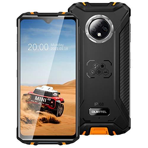 Smarphone Incassable OUKITEL WP8 Pro Telephone Portable Debloqué Pas Cher 4G(Android 10,4Go+64Go Octa-Core, Selfie AI 20MP avec Quad Caméra 16MP, 5000mAh,6.49') Antichoc Étanche