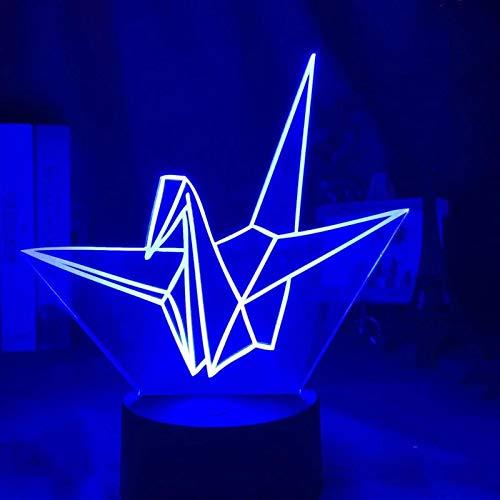 SCNYCUL 3D LED Origami Gráfico Mil Grullas De Papel16 colors lámpara mesa para niños decoración del hogar cumpleaños regalo Navidad