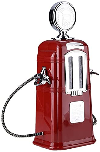 Kengsiren 1000 ml Licor de Bomba de Gas líquido, dispensador de Bebidas Retro en Nostalgia cromada, Licor Decanter Bar Beber máquina Herramienta Dispensador