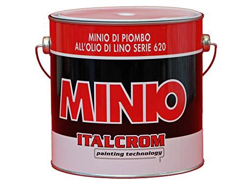 Italcrom 2 Lt antiruggine al minio di piombo all'olio di lino serie 620 per ferro legno barche professionale