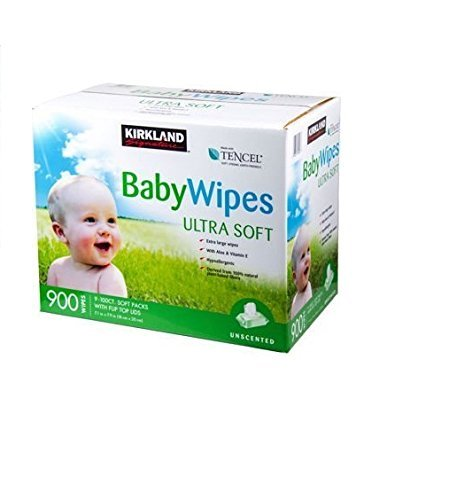 2 Pack Kirkland Signature Premium Baby Wipes Refill Unscented Ultra Soft 900ct