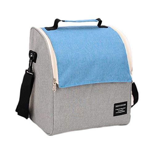 LF- Caja de picnic almuerzo Bolsa portátil de aislamiento del morral del bolso del bolso del almuerzo del papel de aluminio caja de almuerzo Bolsa de almuerzo bolsa grande del bolso del almuerzo Prote