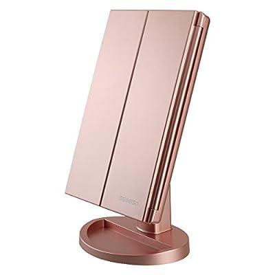 deweisn Tri-Fold Lighted Vanity