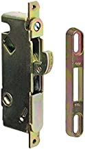 "FPL #3-45-S Sliding Glass Door Replacement Mortise Lock, 3-11/16"" Screw Holes, 45 Degree Keyway"