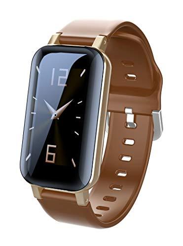 HQHOME 2 in 1 Smartwatch mit Kabellosen Bluetooth Kopfhörer, Fitness Armband Wasserdicht Fitness Uhr mit Ersatzarmband Aktivitätstracker Schrittzähler Schrittzähler für Kinder Damen Herren