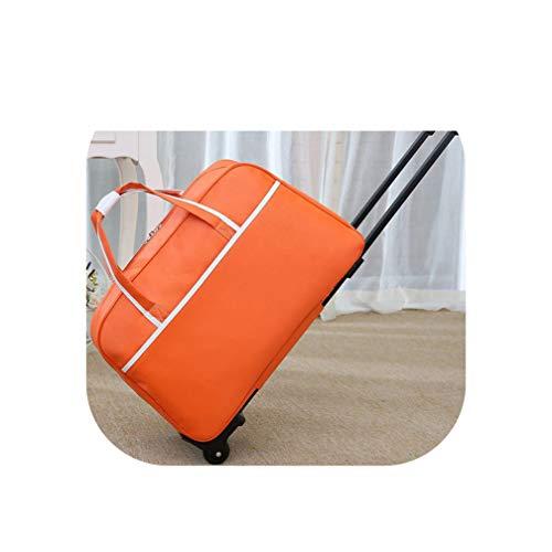 Nuovo impermeabile bagagli borsa a mano stile spessa Rolling valigia trolley bagagli uomini e donne borsa da viaggio con ruote valigie, Sugarpine Air Mesh - Donna (Arancione) - shoulder-handbags