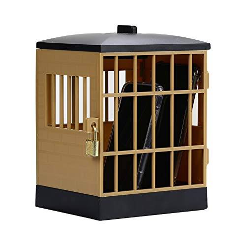 Gojiny Telefon Gefängnis mit Schloss Und Schlüsseln Handy Standhalter Gefängnis mit 60 Minuten Timer für Home Office Klassenzimmer Party Storage Gadget