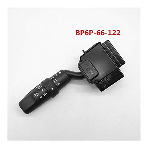 Happy Shop Lenkstockschalter Blinker Links Scheinwerfer-Lampe Stockschalter Nebelscheinwerfer Schalter Scheinwerfer Schalter for Mazda 3 BK M3 BP6P-66-122 BP4K-66-122 Signal (Color : BP6P 66 122)
