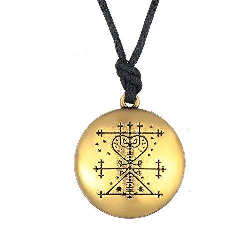 Maman Brigitte Voodoo Veve Anhänger Halskette Gothic Amulett Talisman für Frauen