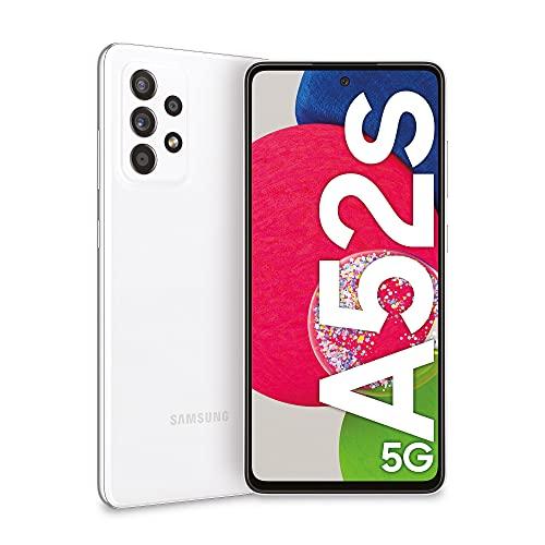 Samsung Galaxy A52s 5G Smartphone, Display Infinity-O FHD+ da 6,5 pollici, 6GB RAM e 128GB di memoria interna espandibile, Batteria 4.500 mAh e Ricarica Ultra-Rapida White [Versione Italiana]