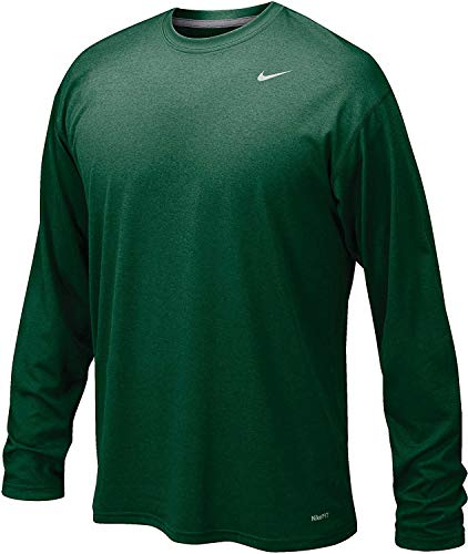 Nike Dk Green Legend Long Sleeve Performance Shirt (Large)