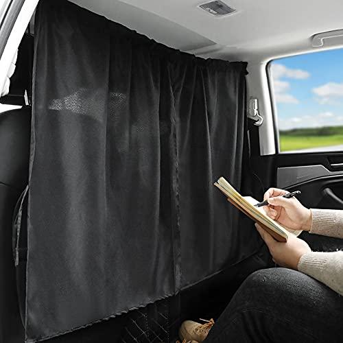 mlloaayo Tenda Divisoria per Seggiolino Auto, Schermo Isolante, Parasole per Aria Condizionata per Veicoli Commerciali E Tende per La Privacy (Nere)