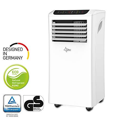 SUNTEC Climatiseur Mobile Effect 9.0 Eco R290 - 9000 BTU Climatisation Portables, Ventilateur, Déshumidificateur, Set Isolation fenêtre, Tuyau d'évacuation [Classe énergétique A]