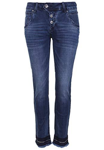 Blue Monkey Damen Jeans Manie 30142 Lederbesatz