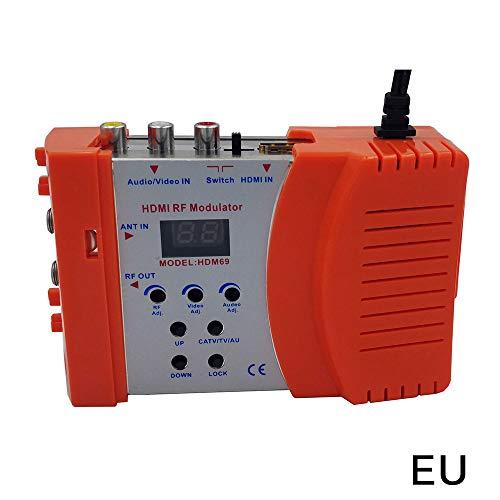 BIOBEY Convertidor RCA a Hdmi, Salida RCA a Hdmi 1080P, Que Se Muestra en 1080P HDTV/Monitor Hdmi Cvbs AV Adaptador de Audio Y Video Compuesto