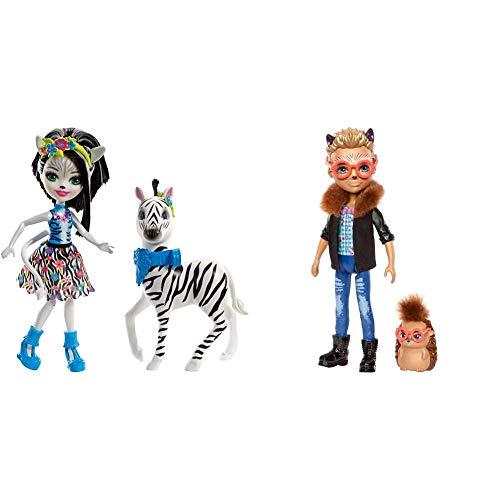 Mattel Enchantimals FKY75 Themenpack Zelena Zebra, Spiel & FJJ22 Igeljunge Hixby Hedgehog Puppe