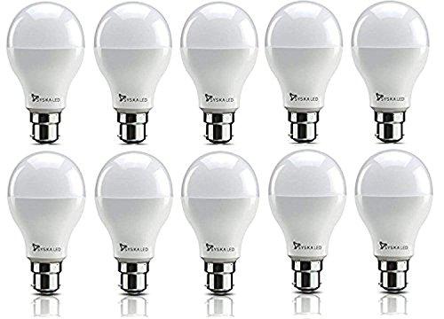 Syska PAG SRL Base B22 9-Watt LED Bulb (Pack of 10, Cool White)