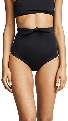 Mara Hoffman Women's High Waisted Bikini Bottom Swimsuit, Jay Black, Large