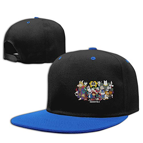 Jiso-Bag コントラスト ヒップホップ ベースボール キャップ アンダー ハート テール Blue 帽子 野球帽 平つば 硬つば 長つば スナップボタン メンズ