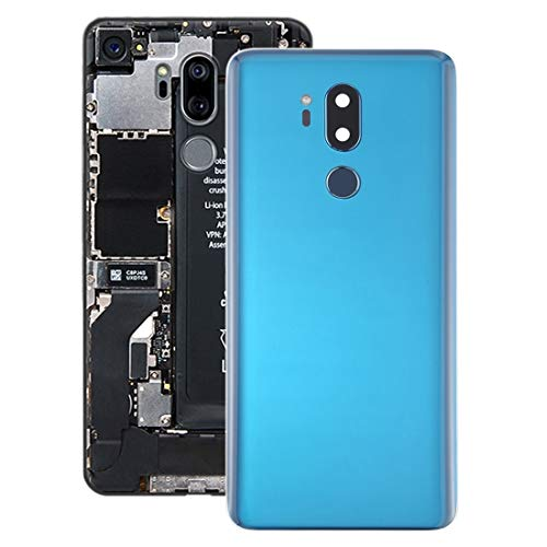 HYFGESDA ersetzen Batterie-rückseitige Abdeckung mit Kameraobjektiv und Fingerabdruck-Sensor for LG G7 ThinQ / G710 / G710EM / G710PM / G710VMP (Schwarz) (Color : Blue)