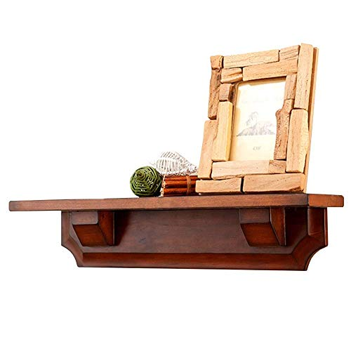 YLCJ boekenkast massief houten scheidingswand, wandmontage, bloemenstandaard, woonkamer slaapkamer ingang, L60 * B12 * H12 cm