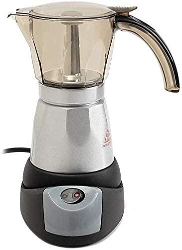 N&O Mini cafetera 300Ml cafetera automática Filtro cafetera Calentador de Cocina 6 Tazas 3 Minutos 220-240V Tetera