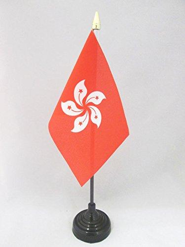 AZ FLAG TISCHFLAGGE Hongkong 15x10cm goldene splitze - HK TISCHFAHNE 10 x 15 cm - flaggen