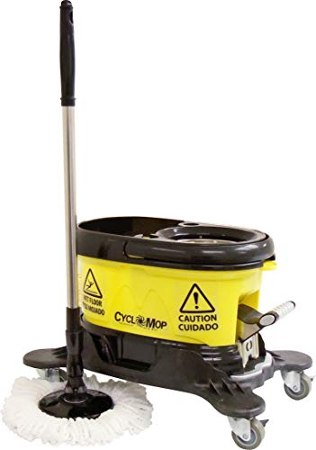 CycloMop Commercial Spinning Spin Mop with Dolly Wheels - Heavy Duty Design for Years of Use