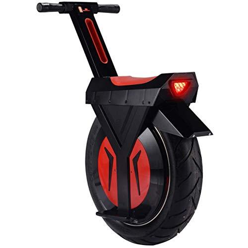 QX Scooter Monociclo Eléctrico, Coche de Deriva Inteligente, Scooter, Capacidad de Peso 265 Lbs, Neumático de 17 Pulgadas, Todo el Coche Pesa Sólo 55 Lbs, 90 Km, Negro/Blanco, 90Km,Negro
