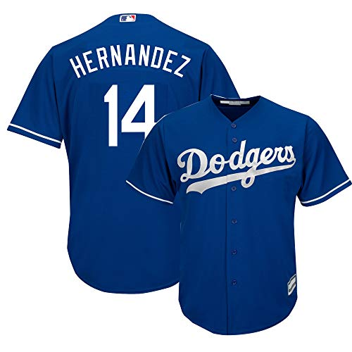 Outerstuff Enrique Hernandez Los Angeles Dodgers MLB Boys Youth 8-20 Player Jersey (Blue Alternate, Youth Medium 10-12)