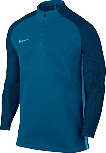NIKE M Nk Aroswft Strke Dril Top Camiseta, Hombre, Azul (Industrial Blue/Chlorine Blue), XL