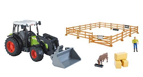 bruder Limited Set ~ 1/16 Claas Nectis mit Loader, Farmer, Kuh und Zubehör