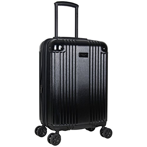 Kenneth Cole New York Tribeca 20-inch Lightweight Hardside Expandable 8-Wheel Spinner TSA Lock Carry-On Suitcase, Black