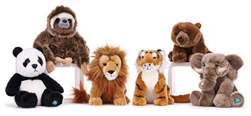 BBC Planet Earth II Tiger Soft Toy wth Display stand 25 cm