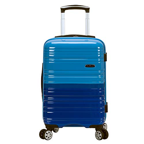 Rockland Melbourne Hardside Expandable Spinner Wheel Luggage, Two tone blue