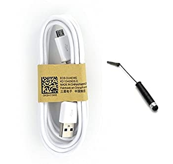 OEM Samsung 5 Foot Micro USB Data Sync Charging Cable for Galaxy S2 S3 S4 S5 Active Prime Note 1 2 3 Mega 6.3 ECBDU4EWE + Mini Stylus