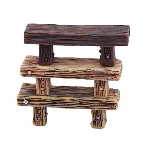 Aiasiry Miniatur Harz Koaxiale Ornamente Bonsai Dekoration Möbel Kit Spielzeug, Weiß + Gelb + Schwarz