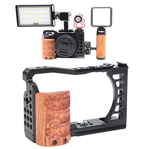 Socobeta Manija de la Jaula de la cámara Jaula de la Campana fácil Jaula del Kit de la Jaula de la cámara fotográfica Mango para la filmación de películas y Video de Vlogs