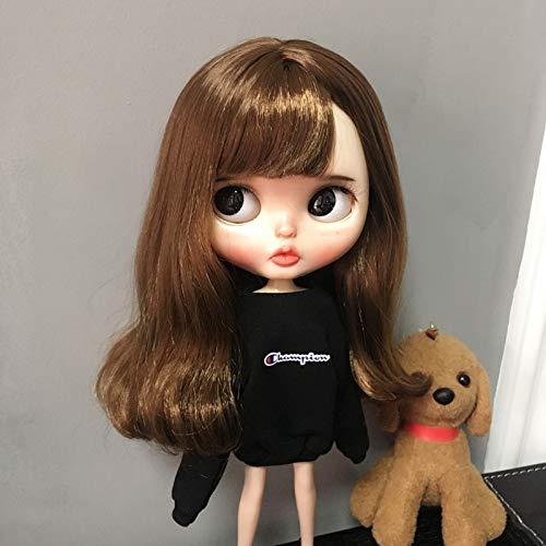 小さな布ブライス人形服19合体アゾンリカob24ベビー服6点手作りベビー服 (バービーは小さな布で着ることができます,黒セーター)